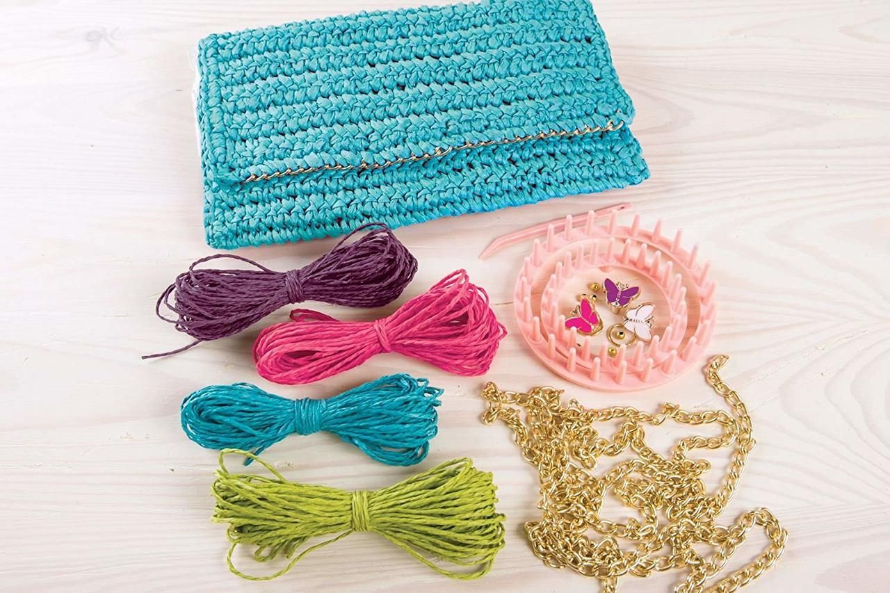 Raffia Flower Clutch Make It Real Raffia Flower Clutch Kit