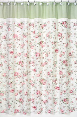 Girls Bathroom Rileys Roses Kids Fabric Bath Shower Curtain By JoJo Designs Shabby Chic
