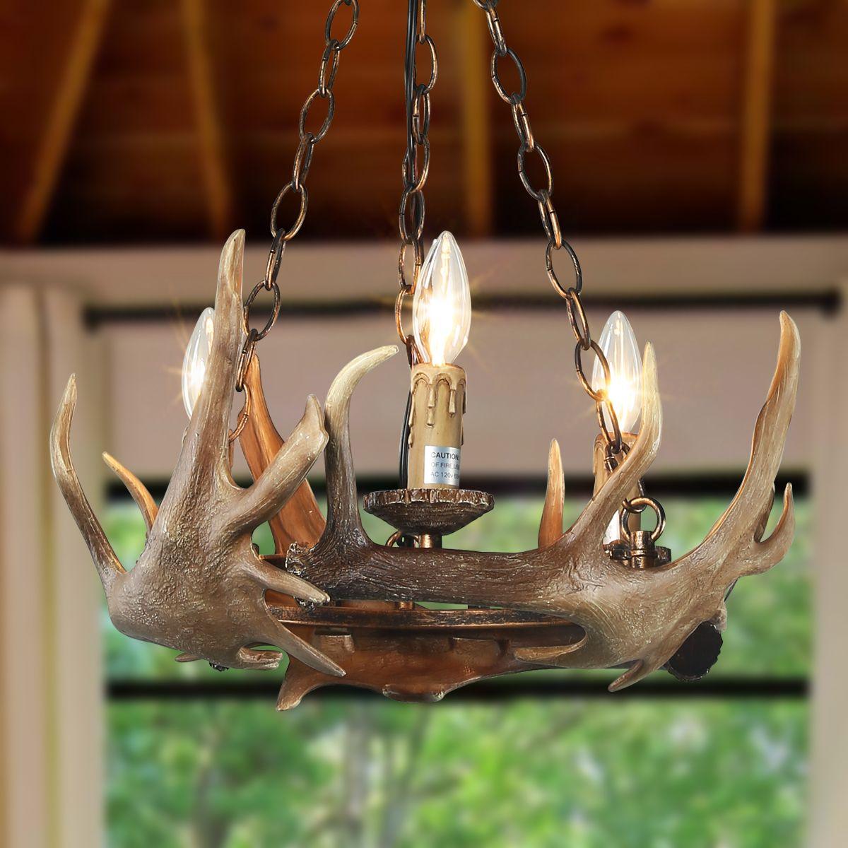 Light antler pendant lighting ceiling lights chandeliers
