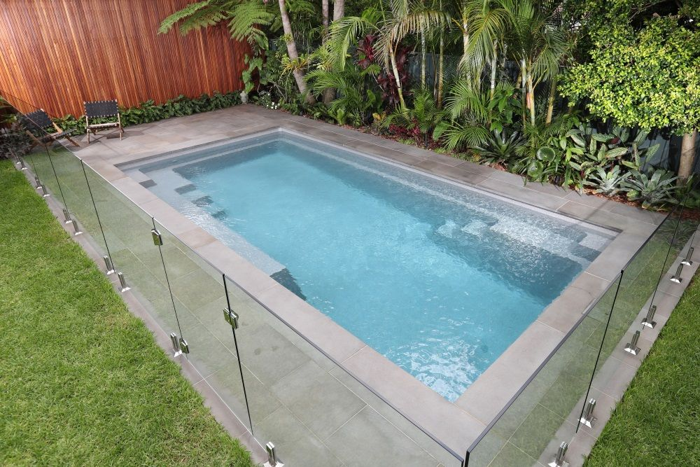 Project Serene 7 Grey Quartz New Zealand Small Pool Design Backyard Pool Designs Swimming Pools