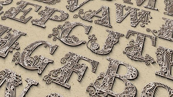 motion graphics quilling letters videohive