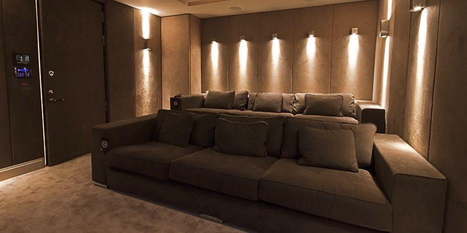 1 Home Cinema With Wall Sconce Lighting Home Home Technology Home Decor