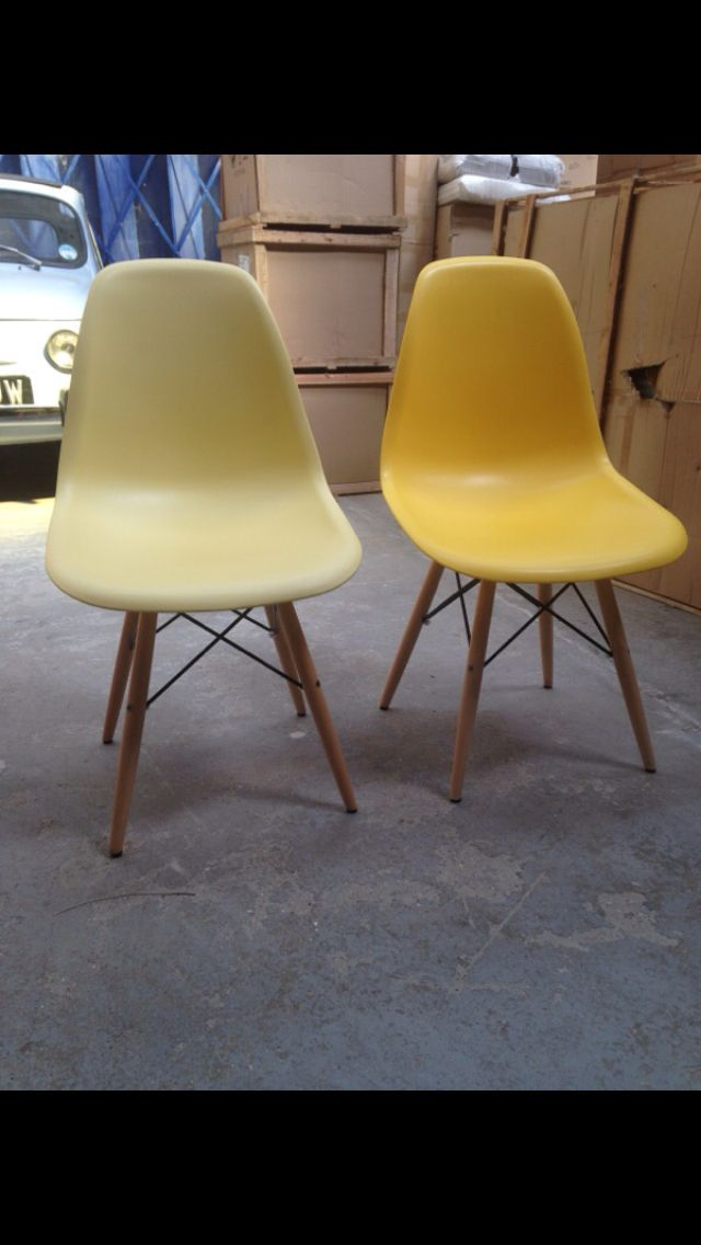 Yellow Eames inspired chairs... Or lemon?