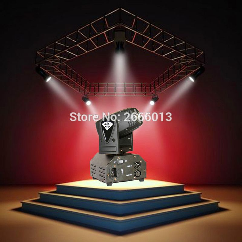 Niugul Mini 10w Rgbw 4in1 Led Moving Head Dmx512 Light Led Beam Spot Lighting Show Disco Dj Laser Light Ch Laser Christmas Lights Dj Laser Light Party Lights