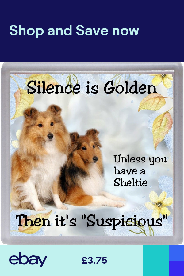 Shetland Sheepdog Sheltie Dog Coaster Silence Is Golden By Starprint Shetland Sheepdog Sheltie Sheltie Dogs