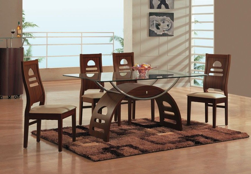 Lovable Glass Top Dining Tables And Chairs Superb Modern Dining