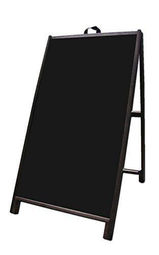 Wood A Frame 24x48 Double Sided Sidewalk Signs W Black Acrylic