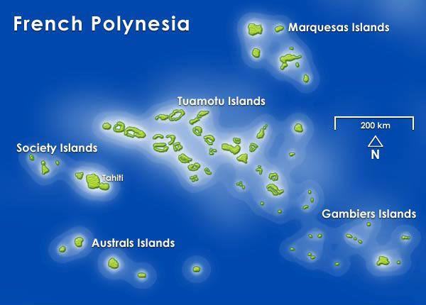 French Polynesia Map Paul Gauguin Cruises Pinterest - French polynesia map