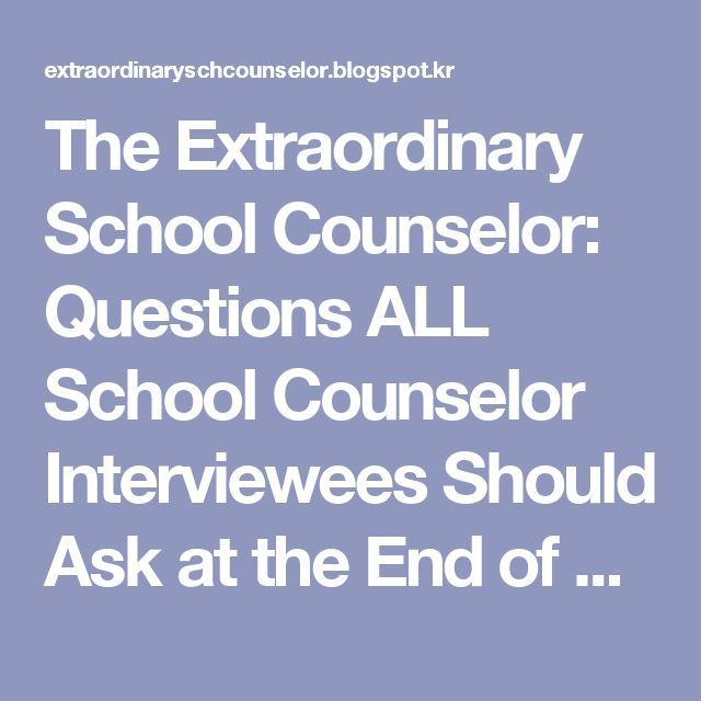The Extraordinary School Counselor Questions All School Counselor