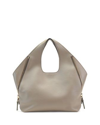 9c72bd54c5ad Jennifer Side-Zip Leather Hobo Bag, Taupe by Tom Ford at Bergdorf Goodman.