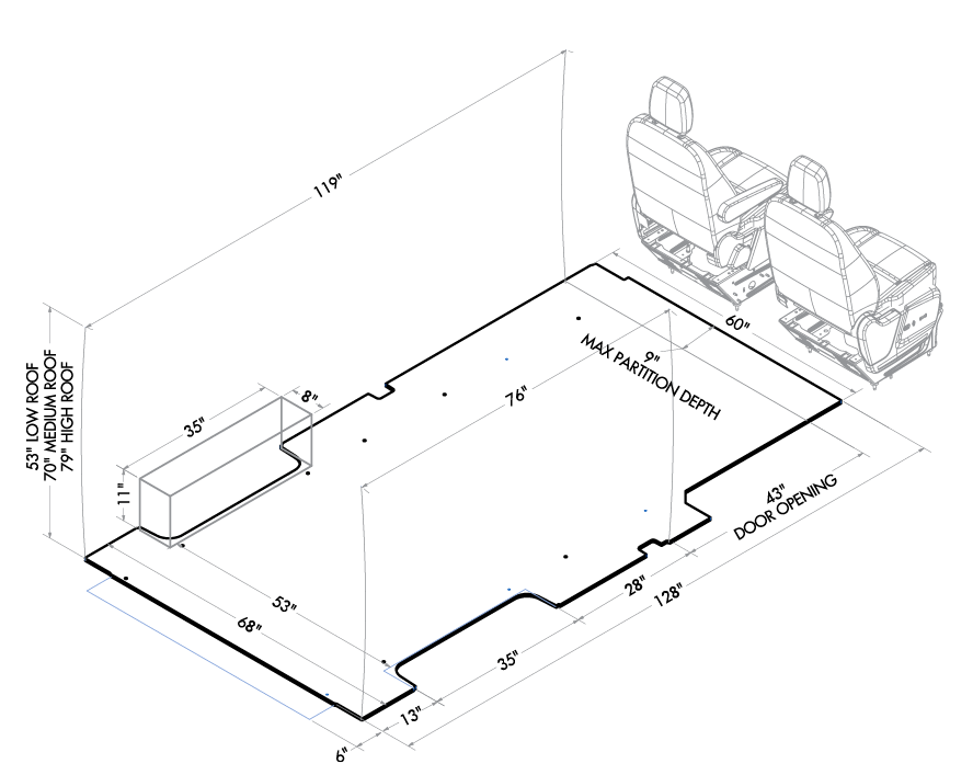 4f7508aecc Ford Transit Vehicle Layouts Camper Van Ford Toyota Previa Diagram Ford  Transit Long Diagram