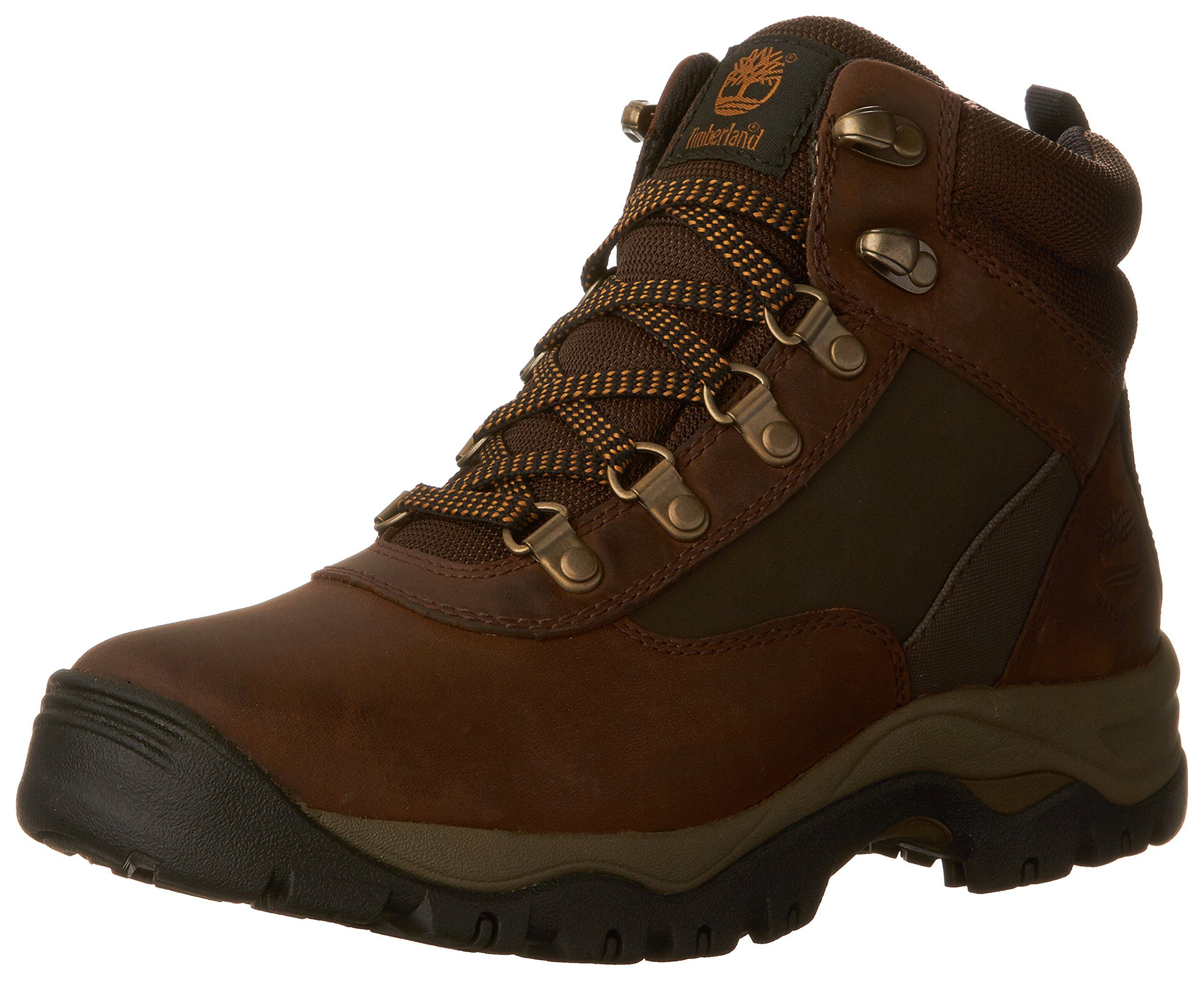 Timberland Women's Keele Ridge WP Leather Mid Winter Boot, Medium Brown  Connection Full Grain,