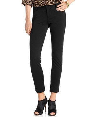 1764d987557 MICHAEL Michael Kors Skinny Ponte-Knit Ankle Pants These are comfy AND  chic. A great alternative to a black jean if you want to step it up a bit  without ...