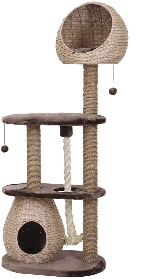 The BARELI Cat Tree Is A Luxury Cat Scratcher Made From Water Hyacinth! A  Truly