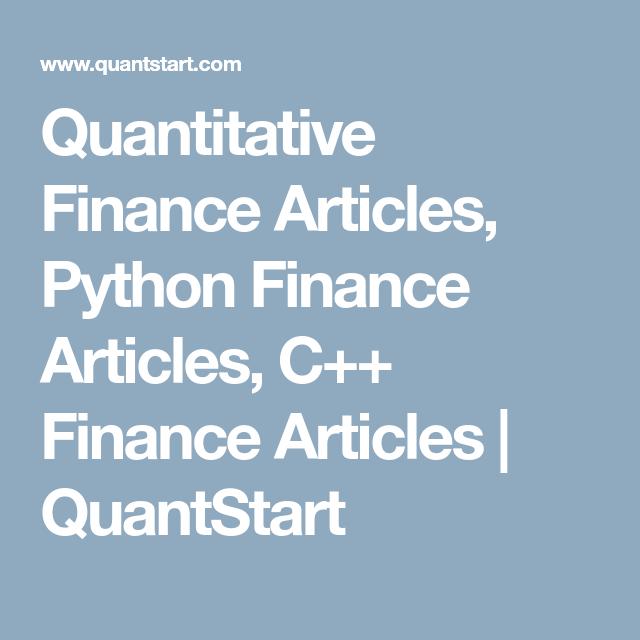 Quantitative Finance Articles, Python Finance Articles, C++