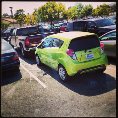 Check Our The Chevy Spark In Jalapeno It Never Has Parking
