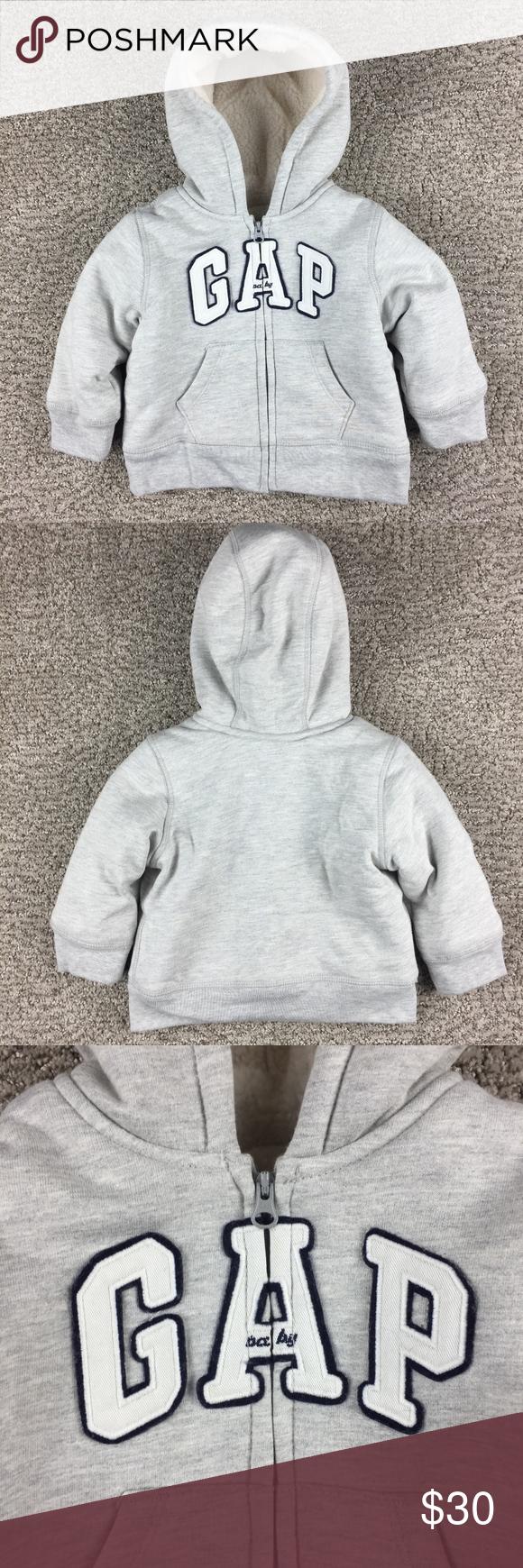 a08ee57c8ca2 BabyGap Boy s Sherpa Lined Zip Up Hoodie 18-24 M in 2018