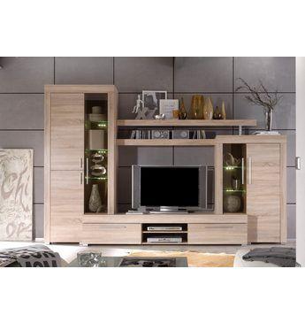 Wohnwand (5-tlg) Anbauwände (modern rustikal) Jetzt bestellen - wohnzimmer beige modern