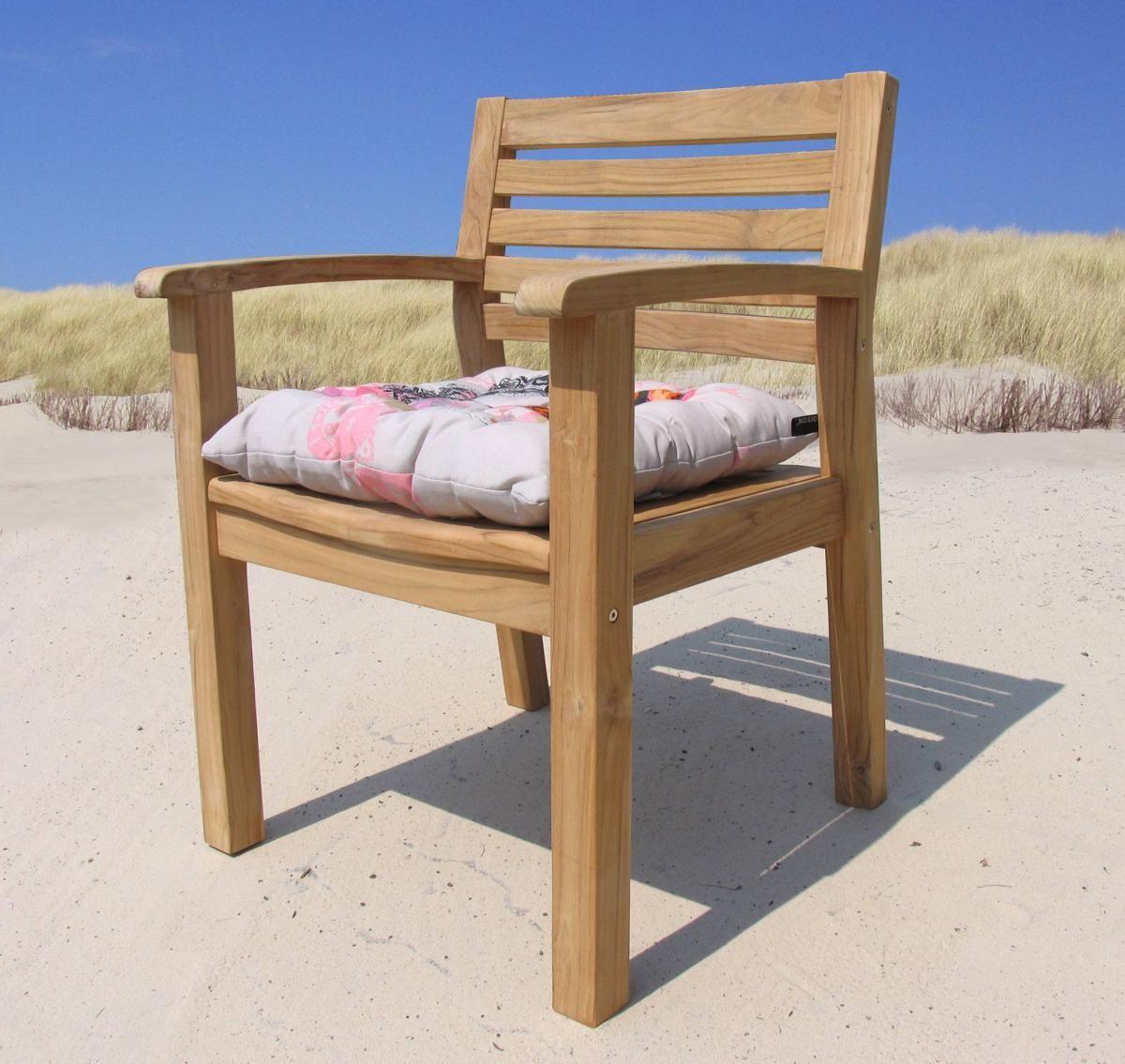 Grasekamp Gartenstuhl Sessel Teakstuhl Teak Holz Stuhl Mit Armlehne Und  Sitzkissen Jetzt Bestellen Unter: Https