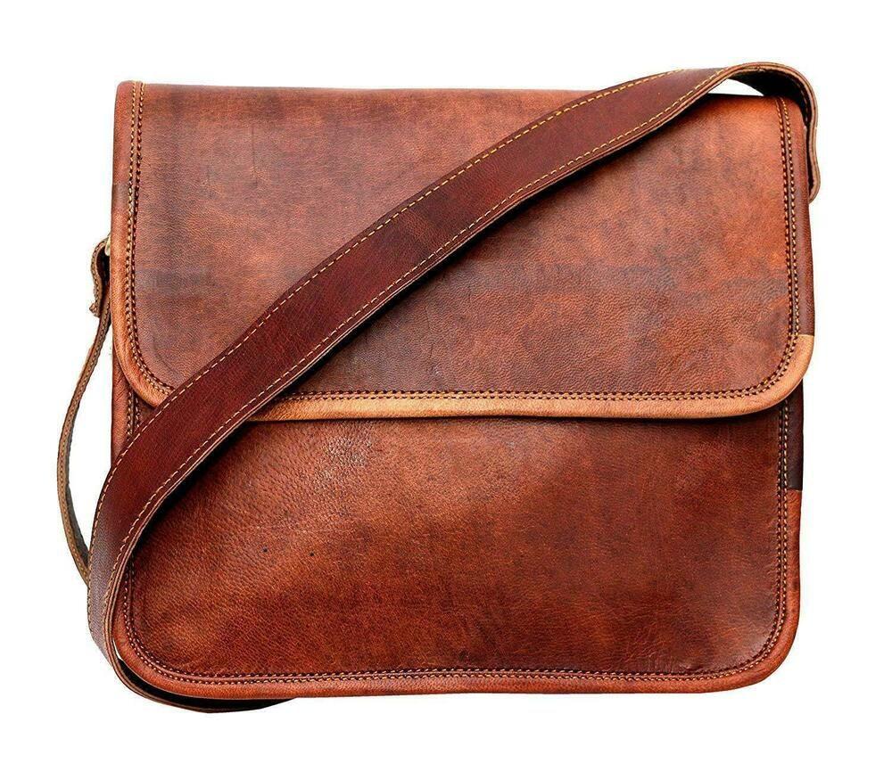 Men/'s Vintage Genuine Leather Laptop Handmade Shoulder Bag Messenger Satchel Bag