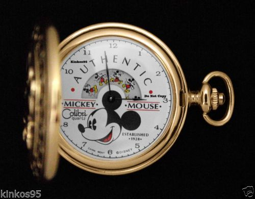 d08443418 Disney Mickey Mouse Colibri Authentic Gold Pocket 1928 Watch HTF in  Collectibles, Disneyana, Contemporary (1968-Now) | eBay