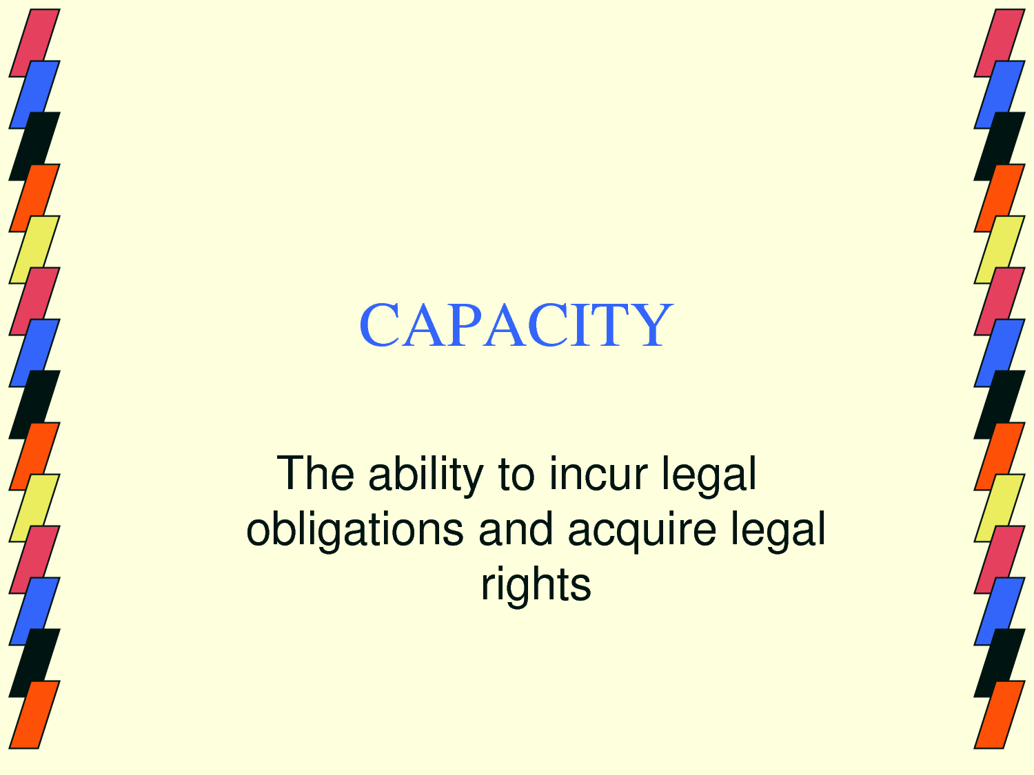 Contracts law offer and acceptance 4 law school - Contractual Capacity The Threshold Mental Capacity Required By Law For A Party Who Enters Into