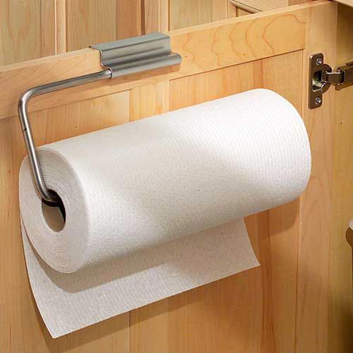 Over Cabinet Door Paper Towel Holder Stainless Adds A To Any 7 8 Inch Thick