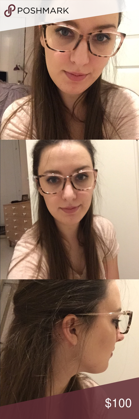 465f41b1dac Kate spade cortina frames Authentic Kate spade glasses. Low prescription  lenses. Hardly ever used. Light pink tortoise design. Comes with case which  doesn t ...