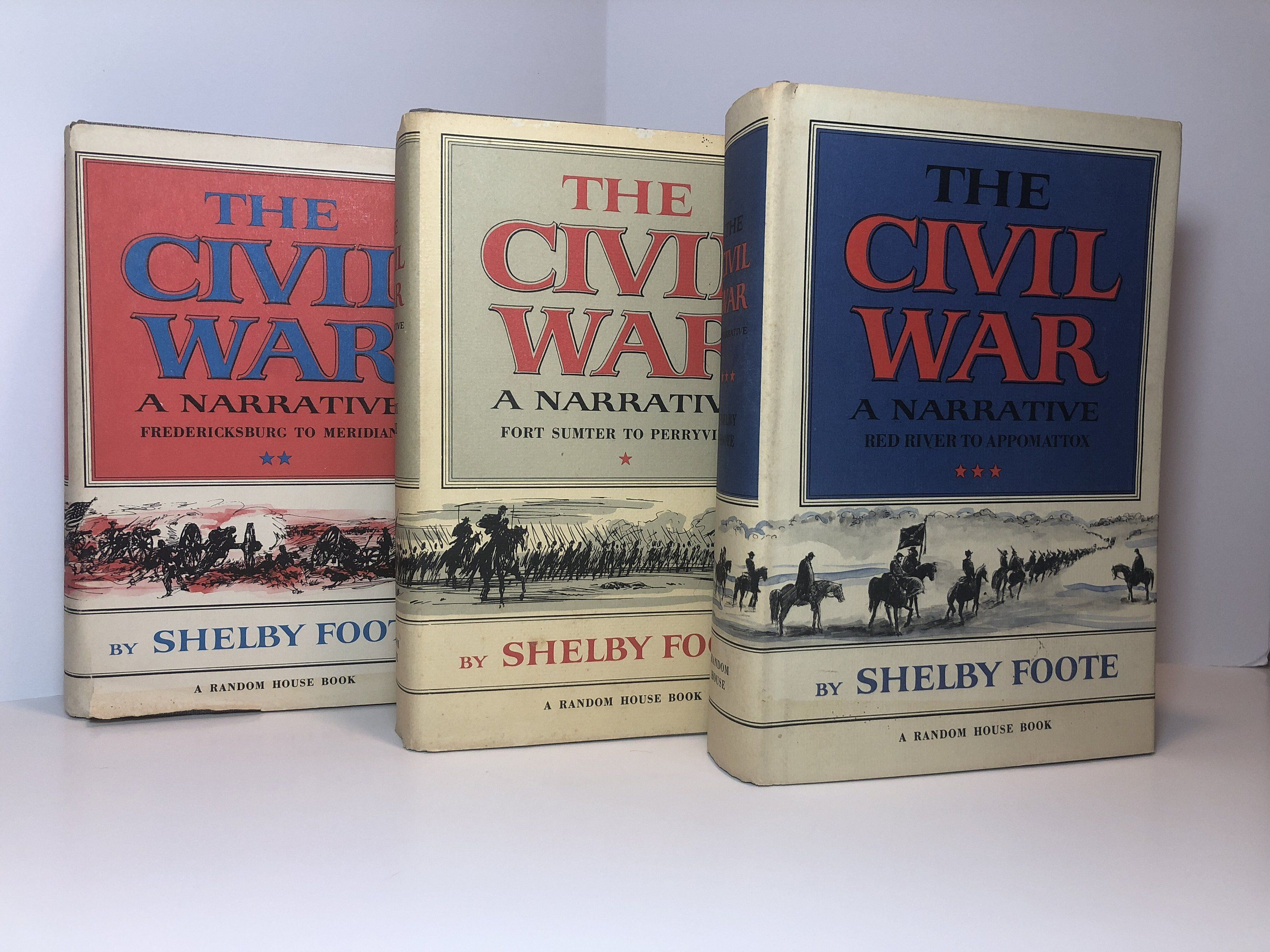 The Civil War A Narrative 3 Volume Set By Shelby Foote 1963 Fort Sumter To Perryville Fredericksburg To Meridian Red River T Shelby Foote Civil War Fort Sumter