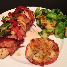 Spinach, Red Pepper and Gouda Stuffed Chicken