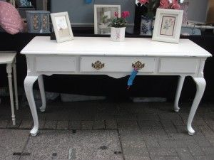 painted queen anne furniture | console table painted white ...