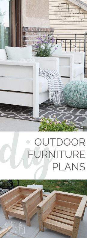 DIY Outdoor Chairs and Porch Makeover | Diy móveis, Móveis ...