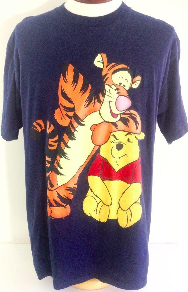 af3cc5d1 Winnie the Pooh T Shirt XL Mens Disney Tigger Navy Blue Preshrunk Cotton # Disney #GraphicTee