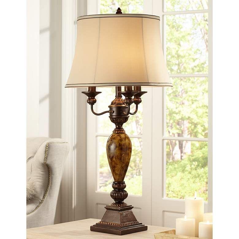 Kathy Ireland Mulholland 6-Way Traditional Table Lamp ...