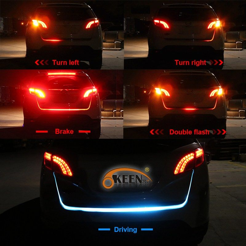 On sale us 1638 okeen 1set car led trunk light strip 120cm 5 on sale us 1638 okeen 1set car led trunk light strip 120cm 5 functions led following aloadofball Choice Image