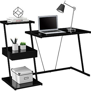 Tribeca Black Glass Desk Black Glass Desk Glass Desk Desks For