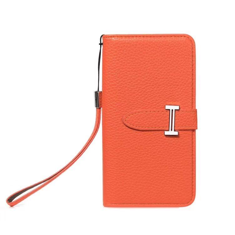 3554 calssic hermes pattern flip leather cases book