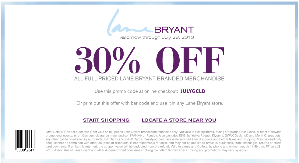 photo regarding Lane Bryant Printable Coupons named Pinned July 15th: 30% off retail outlet companies at Lane Bryant, or