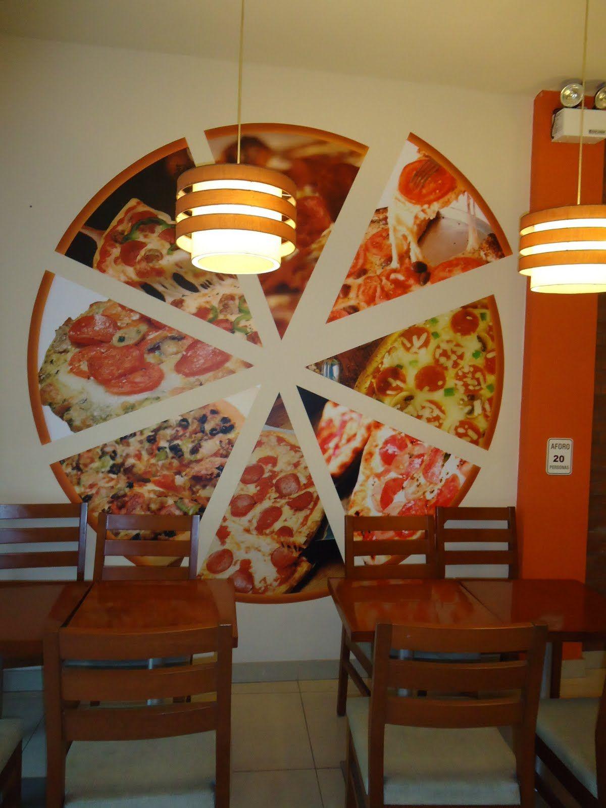 decoracion de pared con pizza ciluetas - Buscar con Google  efeb70ca286