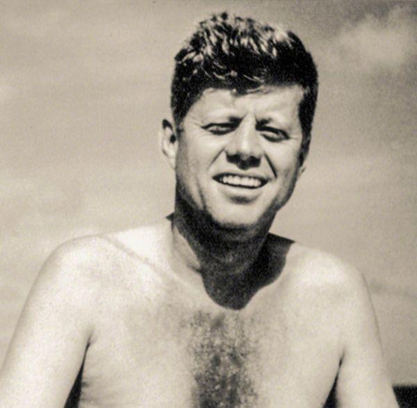 John F Kennedy in Hyannis Port, 1957.