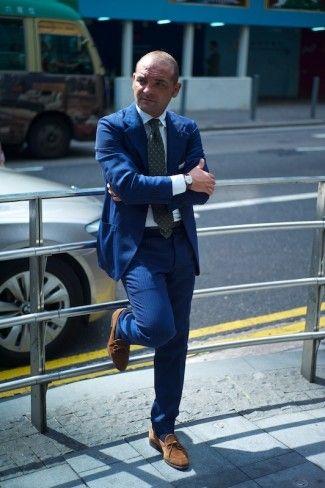 Salvatore in Hong Kong blue suit men