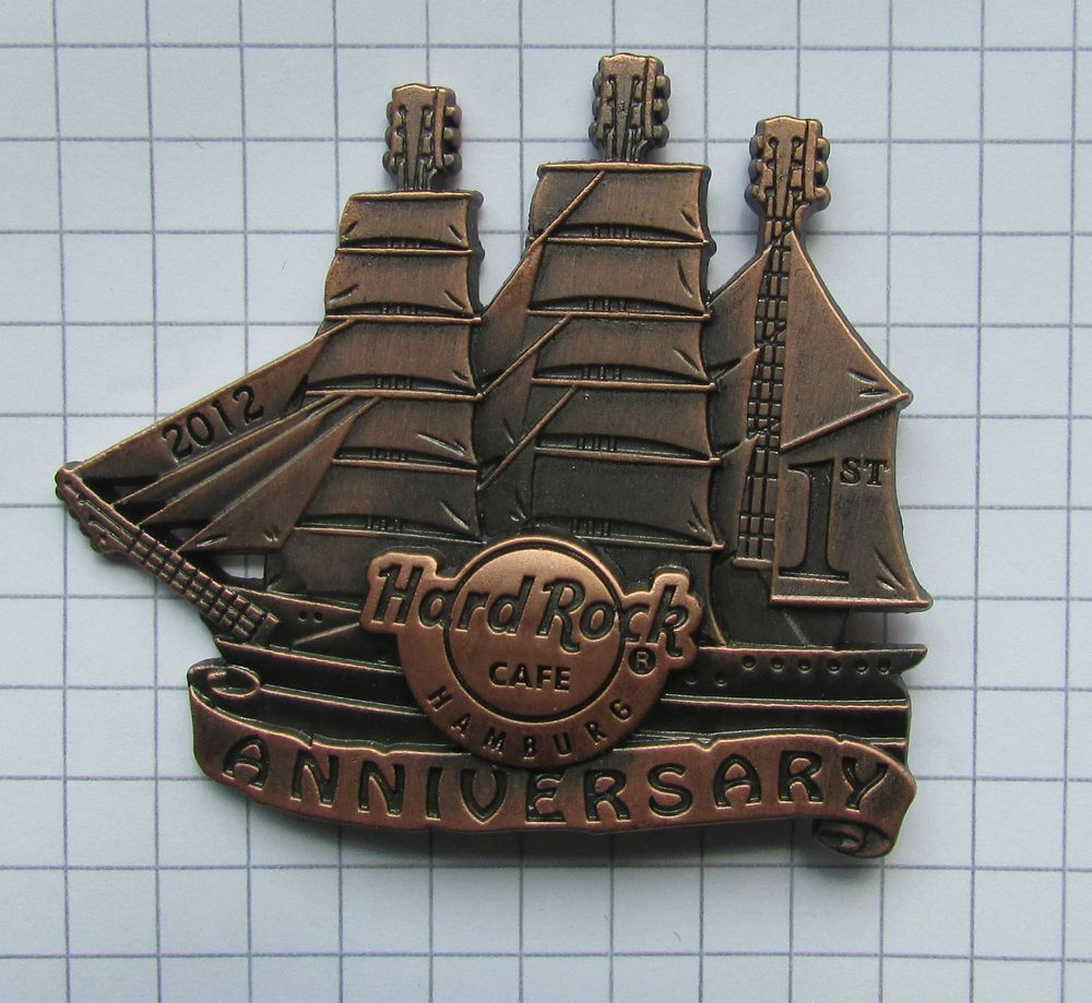 Hard Rock Cafe Hamburg 1st Anniversary Sail Ship Le Pin 31ab Hard Rock Cafe Hard Rock 1st Anniversary