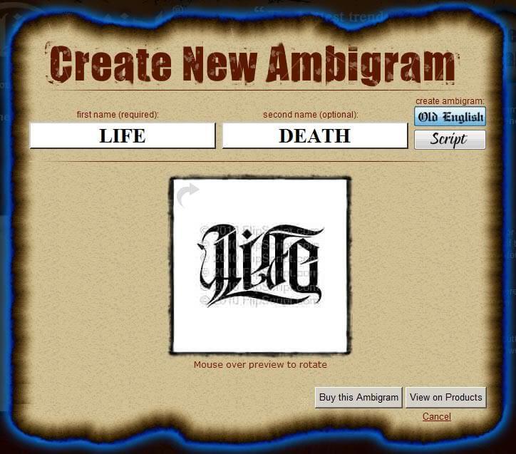 Ambigram Tattoo Generator Free Ambigram Tattoo Ambigram Tattoo Generator Ambigram Creator