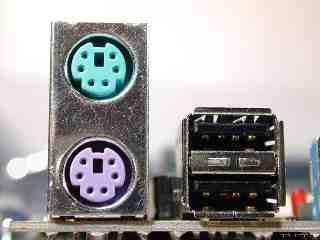 PS/2 Conectores de teclado y ratones