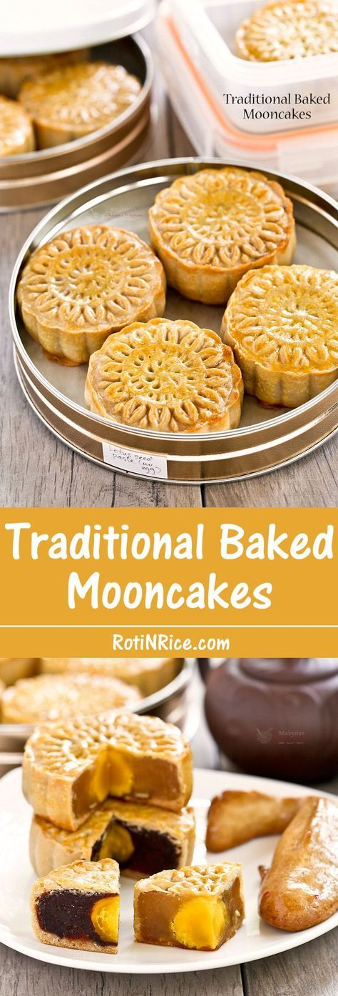 Traditional Baked Mooncakes Recipe Asian desserts
