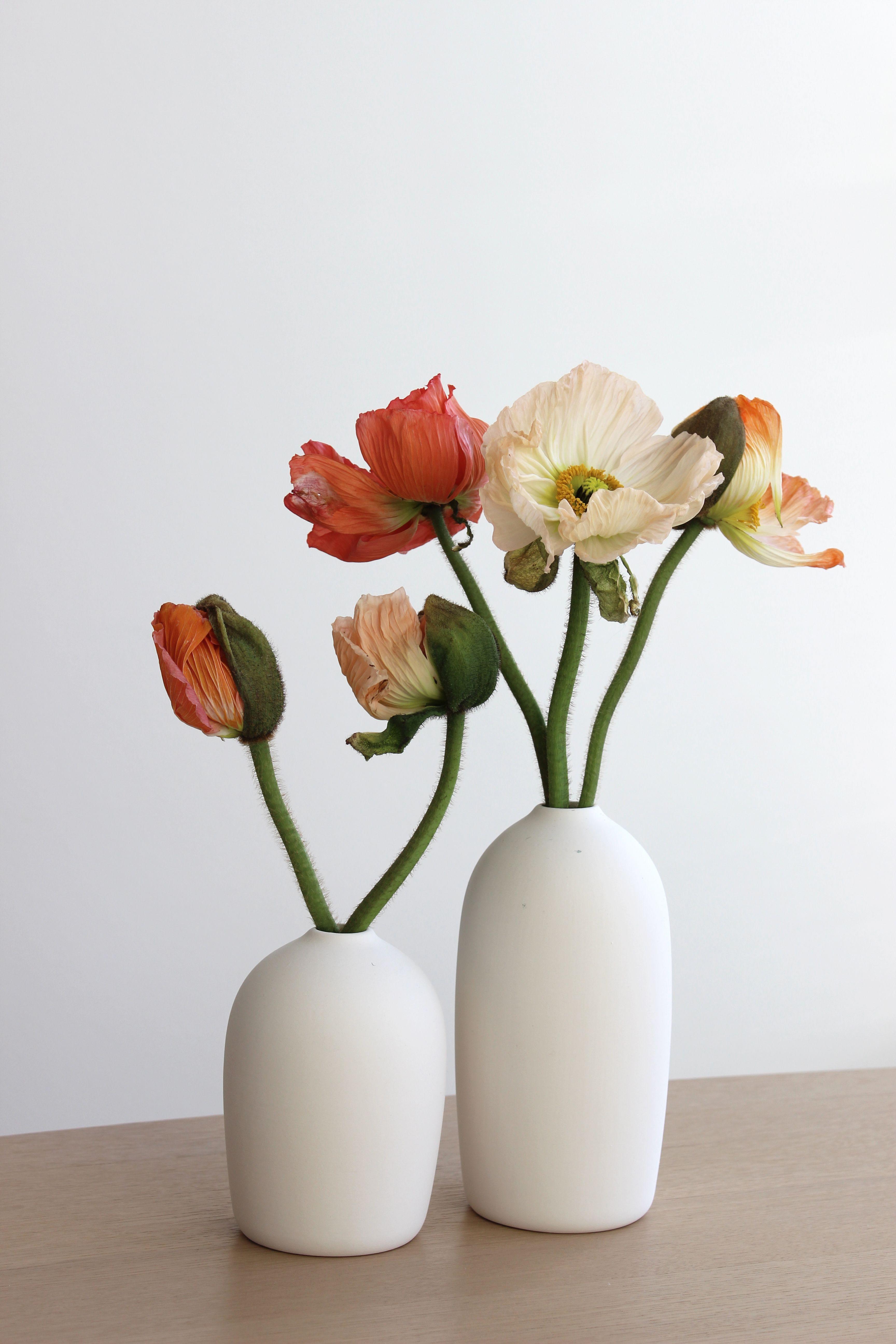 Raw Vase White Large Hvid Keramikvase In 2020 Small Flower