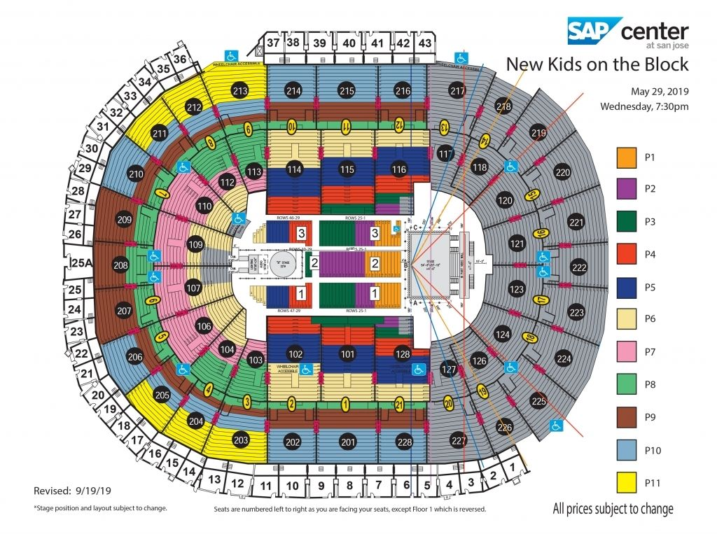Sap Seating Chart In 2020 Seating Charts New Kids On The Block New Kids