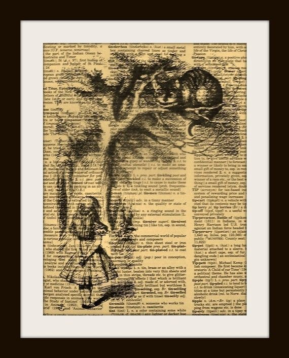 Alice in Wonderland, printed on a dictionary page!