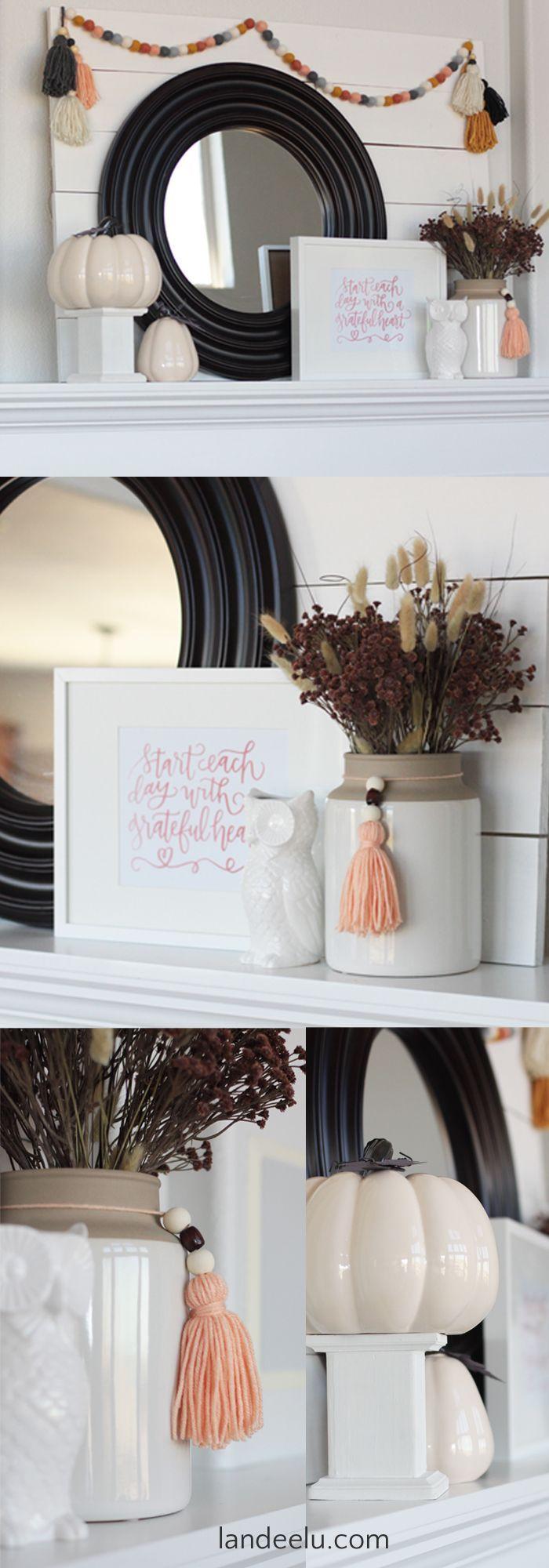 Fall Mantel: Fresh Color Palette   Pinterest   Mantels, Thanksgiving ...