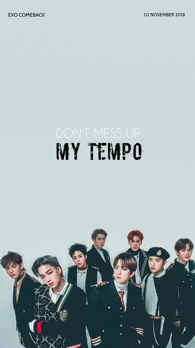 Exo Wallpaper On ในป 2019 Wallpaper K Pop Exo Exo Lockscreen